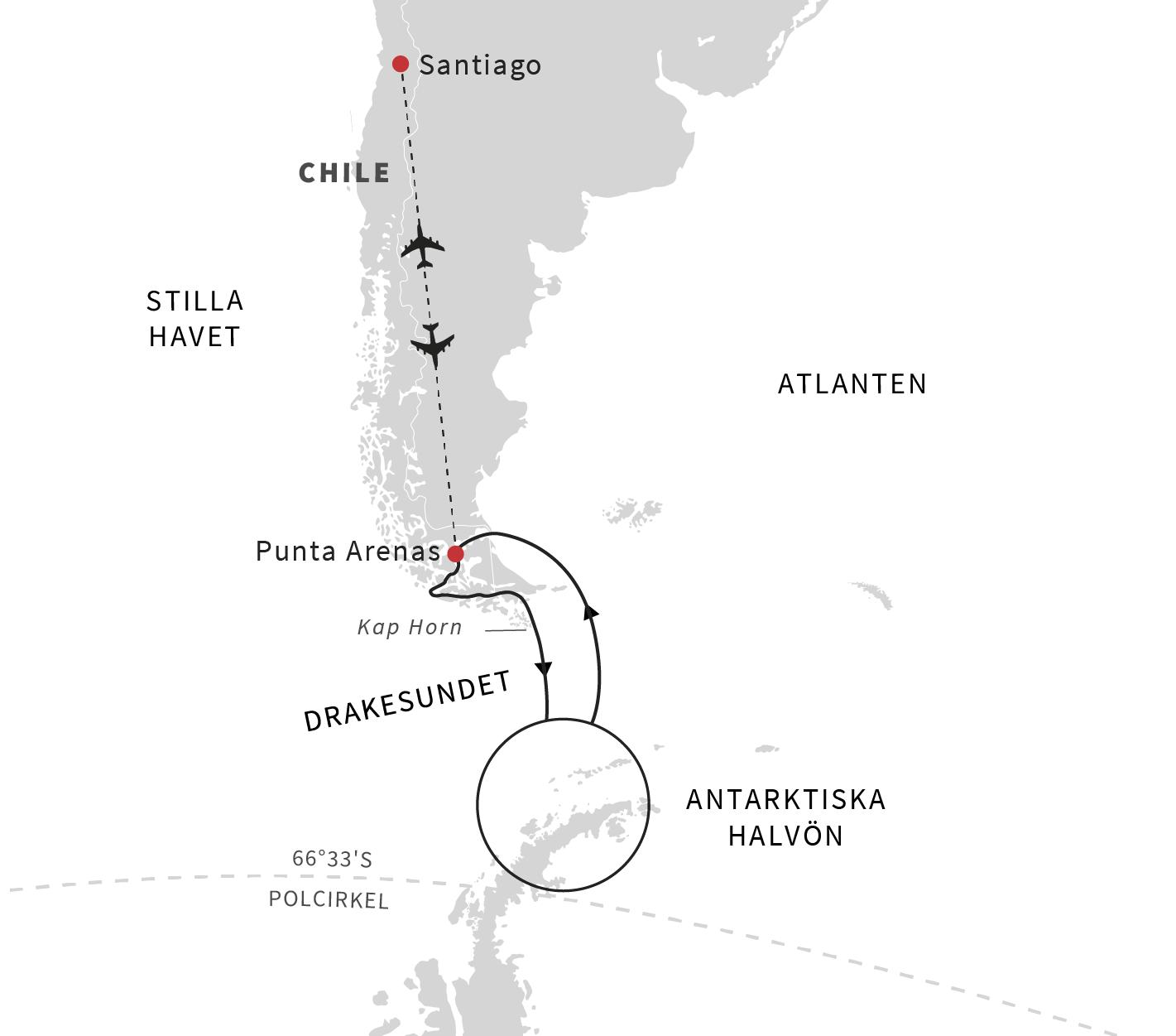 Grönlandsresor - M/S Roald Amundsen på Antarktis